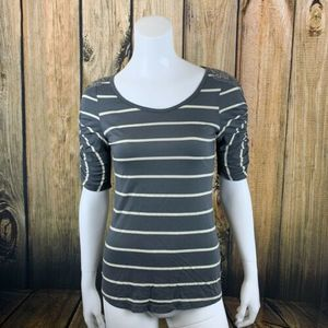 Anthropologie Striped Short Sleeve Tee Small